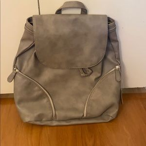 Grey Faux Leather Backpack. 🌼2 FOR 10🌼